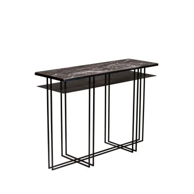 Luca Marble Console Table with Shelf