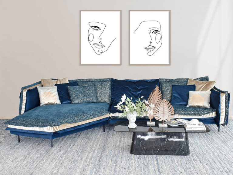 Valencia Reversible Sectional Sofa