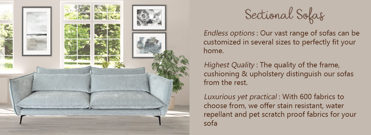 Buy Sectional Sofas Online Dubai, Abudhabi, UAE