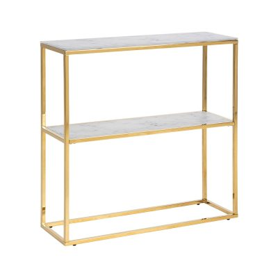 Orlando Marble Console with 2 Shelf