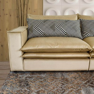 Lincoln Cloud L Sectional Sofa with Double Feather Filled Cushions