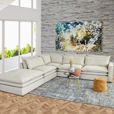 Lincoln Feather Filled Modern Cloud Sofa